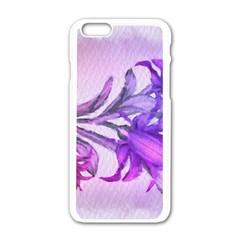 Flowers Flower Purple Flower Apple Iphone 6/6s White Enamel Case