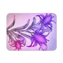 Flowers Flower Purple Flower Double Sided Flano Blanket (mini)
