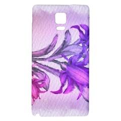 Flowers Flower Purple Flower Galaxy Note 4 Back Case