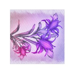 Flowers Flower Purple Flower Small Satin Scarf (square)