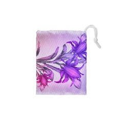 Flowers Flower Purple Flower Drawstring Pouches (xs)