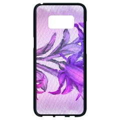 Flowers Flower Purple Flower Samsung Galaxy S8 Black Seamless Case