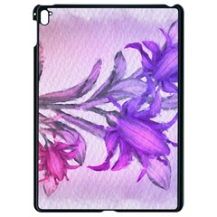 Flowers Flower Purple Flower Apple Ipad Pro 9 7   Black Seamless Case