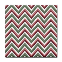 Chevron Blue Pink Tile Coasters