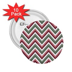 Chevron Blue Pink 2 25  Buttons (10 Pack)