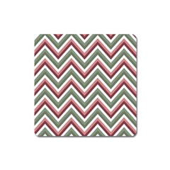 Chevron Blue Pink Square Magnet
