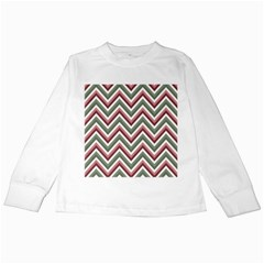 Chevron Blue Pink Kids Long Sleeve T Shirts