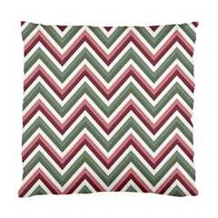 Chevron Blue Pink Standard Cushion Case (one Side)