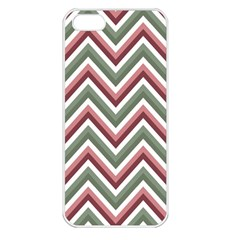 Chevron Blue Pink Apple Iphone 5 Seamless Case (white)