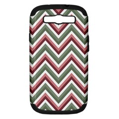 Chevron Blue Pink Samsung Galaxy S Iii Hardshell Case (pc+silicone)