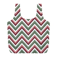 Chevron Blue Pink Full Print Recycle Bags (l)