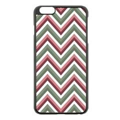 Chevron Blue Pink Apple Iphone 6 Plus/6s Plus Black Enamel Case