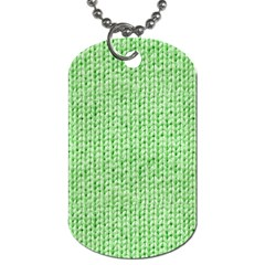 Knittedwoolcolour2 Dog Tag (one Side)