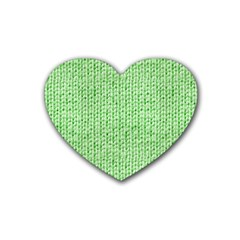 Knittedwoolcolour2 Heart Coaster (4 Pack)