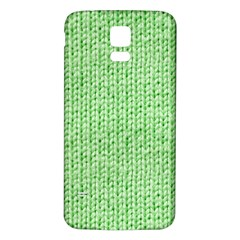 Knittedwoolcolour2 Samsung Galaxy S5 Back Case (white)