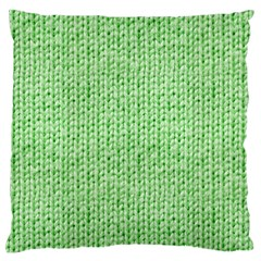 Knittedwoolcolour2 Large Flano Cushion Case (one Side)
