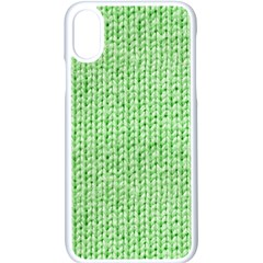 Knittedwoolcolour2 Apple Iphone X Seamless Case (white)