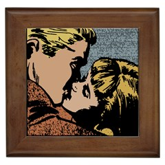 Kiss Kiss Framed Tiles
