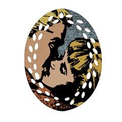 Kiss Kiss Ornament (oval Filigree)