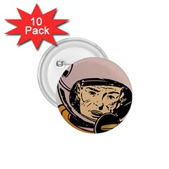 Astronaut Retro 1 75  Buttons (10 Pack)