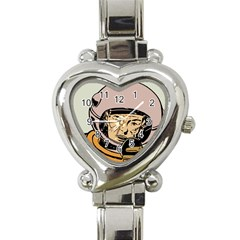 Astronaut Retro Heart Italian Charm Watch