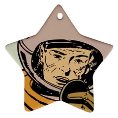 Astronaut Retro Star Ornament (two Sides)