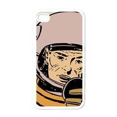 Astronaut Retro Apple Iphone 4 Case (white)