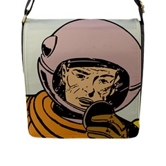 Astronaut Retro Flap Messenger Bag (l)