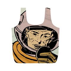 Astronaut Retro Full Print Recycle Bags (m)
