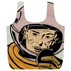 Astronaut Retro Full Print Recycle Bags (l)
