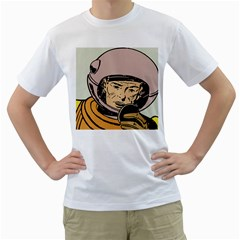 Astronaut Retro Men s T Shirt (white)