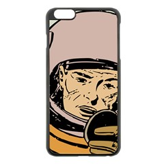 Astronaut Retro Apple Iphone 6 Plus/6s Plus Black Enamel Case