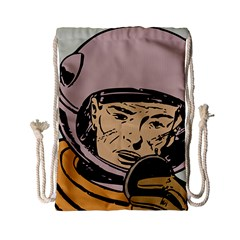 Astronaut Retro Drawstring Bag (small)