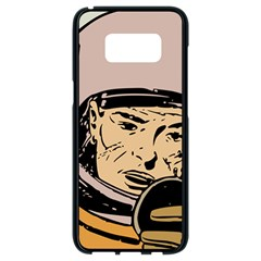 Astronaut Retro Samsung Galaxy S8 Black Seamless Case