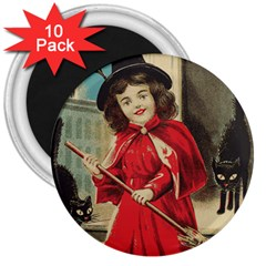 Haloweencard3 3  Magnets (10 Pack)