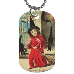 Haloweencard3 Dog Tag (two Sides)
