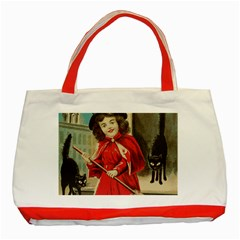 Haloweencard3 Classic Tote Bag (red)