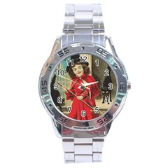 Haloweencard3 Stainless Steel Analogue Watch