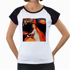 Haloweencard2 Women s Cap Sleeve T