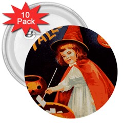 Haloweencard2 3  Buttons (10 Pack)