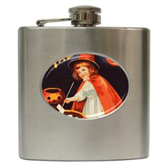 Haloweencard2 Hip Flask (6 Oz)