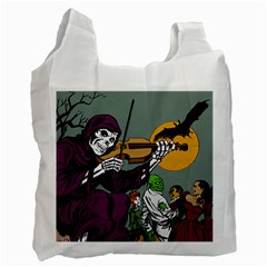 Playing Skeleton Recycle Bag (two Side)