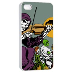 Playing Skeleton Apple Iphone 4/4s Seamless Case (white)