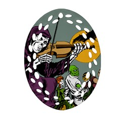 Playing Skeleton Ornament (oval Filigree)