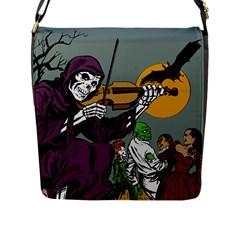 Playing Skeleton Flap Messenger Bag (l)