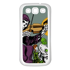Playing Skeleton Samsung Galaxy S3 Back Case (white)