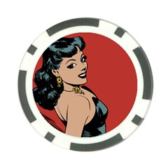 Bad Girl Poker Chip Card Guard (10 Pack)