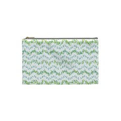 Wavy Linear Seamless Pattern Design  Cosmetic Bag (small)