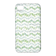 Wavy Linear Seamless Pattern Design  Apple Iphone 4/4s Hardshell Case With Stand