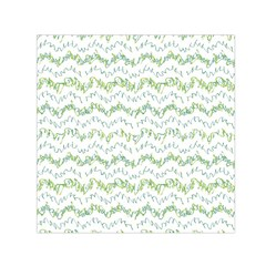 Wavy Linear Seamless Pattern Design  Small Satin Scarf (square)